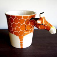★ 3D立体 アニマル マグカップ / Giraffe (キリン) ★