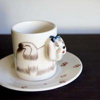 ★ 3D立体 アニマル カップ&ソーサー / Maltese (マルチーズ) ★