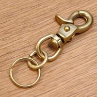 真鍮 / ナスカン (大) と2重リングのセット/キーホルダー/キーリング