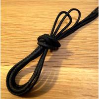 黒/丸紐/芯までロウ引き/ワックスコード/石目