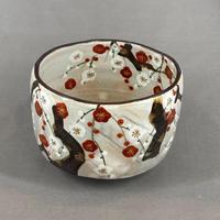 紅白梅 茶碗
