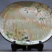 春の図 八寸楕円皿