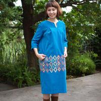 ミナ ペルホネン flower diamond -blue- ドレス