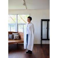 humoresque  stand collar dress   - smoke white -