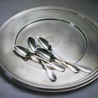 アンティーク Silver Dessert Spoon 4コ Set