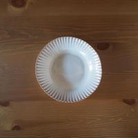 7寸輪花鉢【白萩釉】