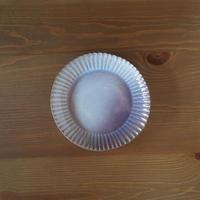 輪花6寸皿【粉引紫】