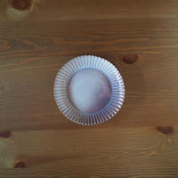 6寸輪花皿【粉引紫】