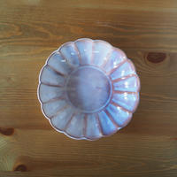 菊鉢【粉引紫】