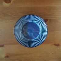 8寸輪花鉢【青萩釉】