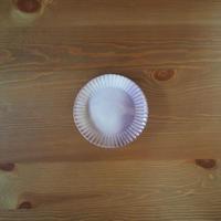 5寸輪花皿【粉引紫】