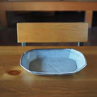 八角オーバル鉢【グレー】