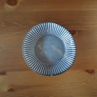 8寸輪花鉢【グレー】