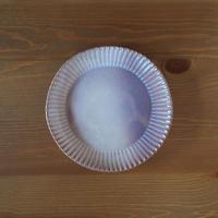 輪花7寸皿【粉引紫】