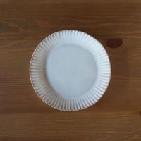 輪花7寸皿【白萩釉】