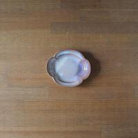 木瓜3寸皿【粉引紫】
