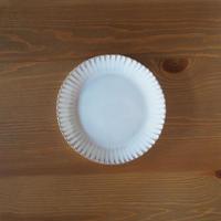 輪花6寸皿【白萩釉】