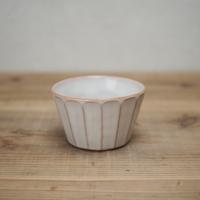 面取蕎麦猪口カップ【白萩釉】