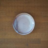 リム皿【粉引紫】