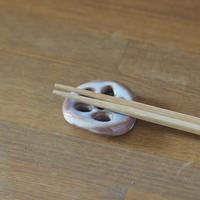 れんこん箸置き(粉引紫)