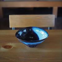 吹付楕円鉢・小【青萩釉】