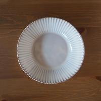輪花8寸鉢【白萩釉】