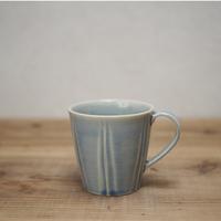 しのぎマグカップ 【水色】