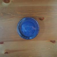 6寸輪花皿【青萩釉】