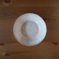 8寸輪花鉢【白萩釉】