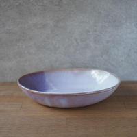 カレー皿・大【粉引紫】