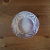 8寸輪花鉢【粉引紫】