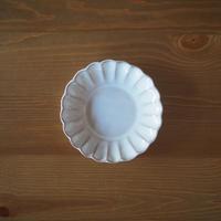 5寸菊花皿【白萩釉】