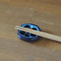 れんこん箸置き(青萩釉)