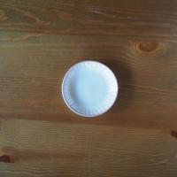 しのぎ4寸皿【白萩釉】
