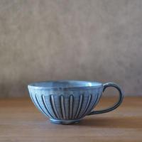 しのぎスープカップ【グレー】