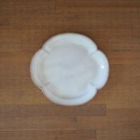 木瓜7寸皿【白萩釉】