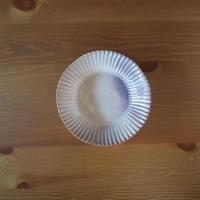 7寸輪花鉢【粉引紫】