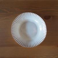 輪花7寸鉢【白萩釉】