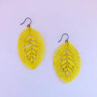 Bobbin Lace Earrings / Yellow