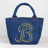 Organic Denim Initial  Tote B  / Ginger Beach Inn Original