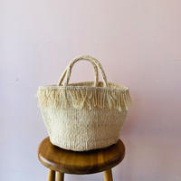 Sisal Basket  / Fringe Natural /MS