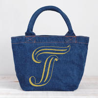 Organic Denim Initial Tote T / Ginger Beach Inn Original