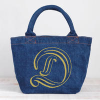 Organic Denim Initial Tote D / Ginger Beach Inn Original