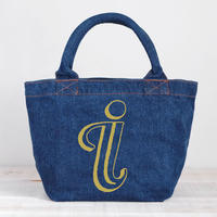 Organic Denim Initial Tote I  / Ginger Beach Inn Original