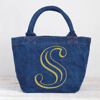 Organic Denim Initial Tote S  / Ginger Beach Inn Original