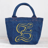 Organic Denim Initial  Tote Z / Ginger Beach Inn Original
