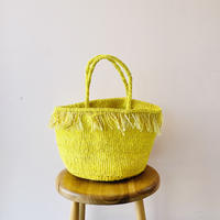 Sisal Basket /  Fringe Yellow