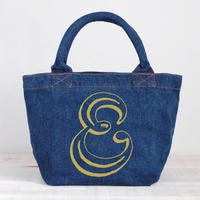 Organic Denim Initial Tote E / Ginger Beach Inn Original