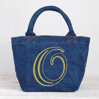 Organic Denim Initial Tote O/ Ginger Beach Inn Original