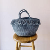 Sisal  Basket /  Fringe Grey / MS